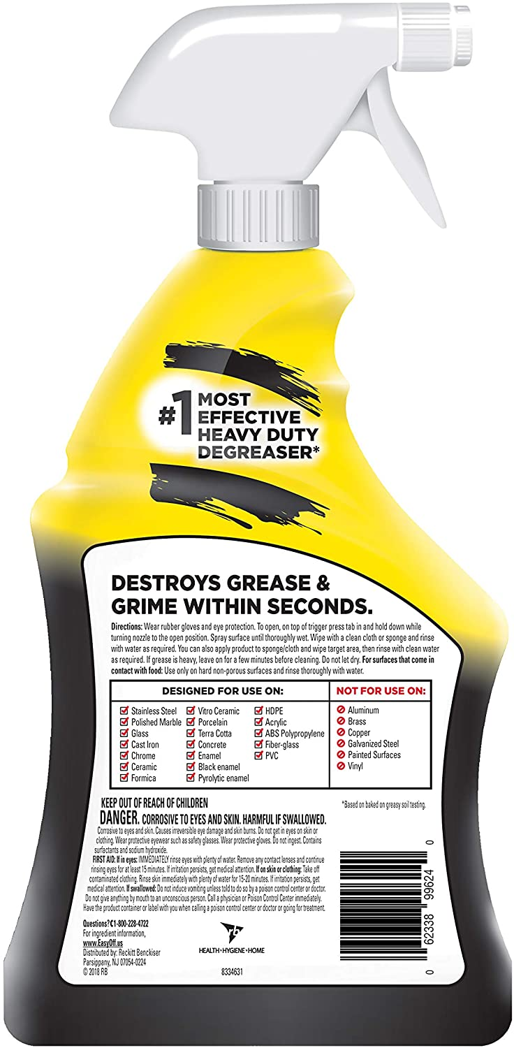 Easy Off Stove Top Cleaner: Easy-Off Cleaner Degreaser Heavy Duty 32oz